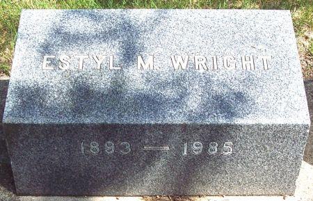 MERRILL WRIGHT, ESTYL M - Carroll County, Iowa   ESTYL M MERRILL WRIGHT
