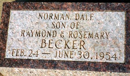 BECKER, NORMAN - Cass County, Iowa | NORMAN BECKER
