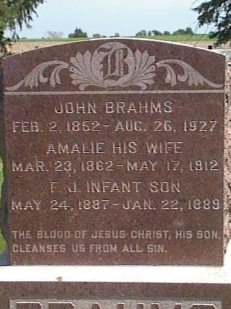 EUKEN BRAHMS, AMALIE H. - Cass County, Iowa   AMALIE H. EUKEN BRAHMS