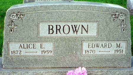 BROWN, ALICE - Cass County, Iowa | ALICE BROWN