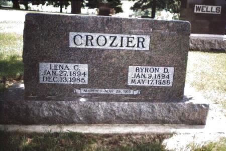 CROZIER, LENA C - Cass County, Iowa   LENA C CROZIER