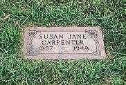 CARPENTER, SUSAN JANE - Cass County, Iowa   SUSAN JANE CARPENTER