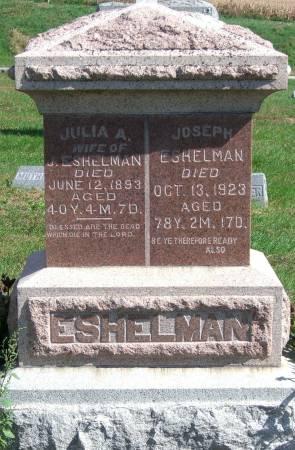 SARBER ESHELMAN, JULIA A. - Cass County, Iowa | JULIA A. SARBER ESHELMAN