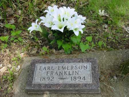 FRANKLIN, EARL E. - Cass County, Iowa   EARL E. FRANKLIN