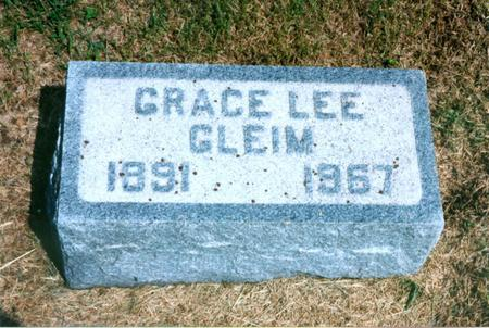 LEE GLEIM, GRACE - Cass County, Iowa | GRACE LEE GLEIM