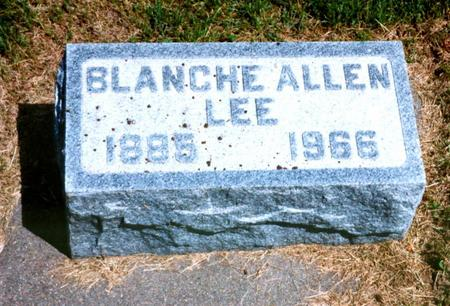 ALLEN LEE, BLANCHE - Cass County, Iowa | BLANCHE ALLEN LEE