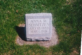 SCHNITZEN, ANNA M - Cass County, Iowa   ANNA M SCHNITZEN