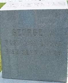 ACKERMAN, GEORGE W. - Cedar County, Iowa   GEORGE W. ACKERMAN