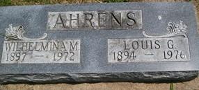 MOELLER AHRENS, WILHELMINA M. - Cedar County, Iowa | WILHELMINA M. MOELLER AHRENS