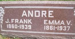 ANDRE, EMMA V. - Cedar County, Iowa   EMMA V. ANDRE