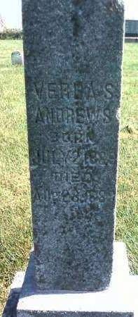 ANDREWS, VERDA S. - Cedar County, Iowa | VERDA S. ANDREWS