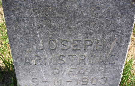 ARMSTRONG, JOSEPH - Cedar County, Iowa   JOSEPH ARMSTRONG