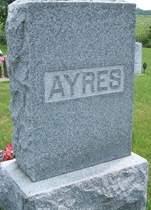 AYRES, FAMILY MONUMENT - Cedar County, Iowa   FAMILY MONUMENT AYRES
