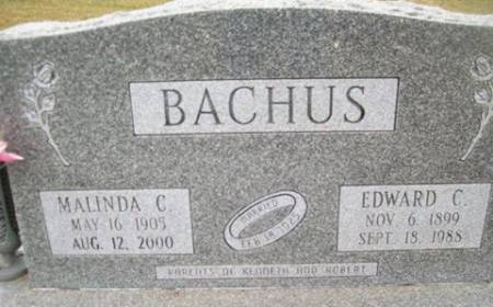 BACHUS, MALINIDA C. - Cedar County, Iowa   MALINIDA C. BACHUS