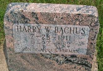 BACHUS, HARRY W. - Cedar County, Iowa | HARRY W. BACHUS