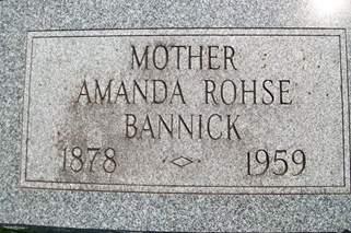 ROHSE BANNICK, AMANDA - Cedar County, Iowa | AMANDA ROHSE BANNICK