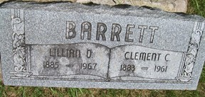 BARRETT, LILLIAN OLIVE - Cedar County, Iowa | LILLIAN OLIVE BARRETT
