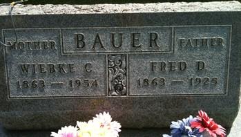 BAUER, FRED D. - Cedar County, Iowa | FRED D. BAUER