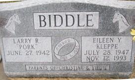 BIDDLE, EILEEN Y. - Cedar County, Iowa | EILEEN Y. BIDDLE