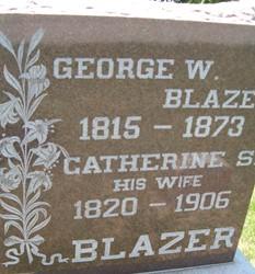 BLAZER, GEORGE W., SR - Cedar County, Iowa   GEORGE W., SR BLAZER