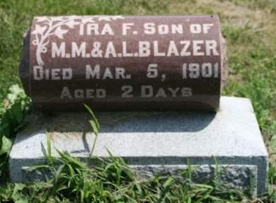 BLAZER, IRA F. - Cedar County, Iowa | IRA F. BLAZER
