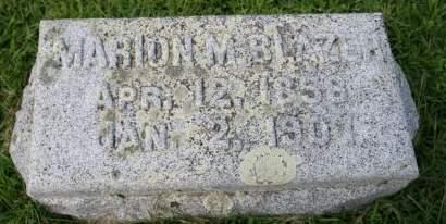 BLAZER, MARION M. - Cedar County, Iowa | MARION M. BLAZER