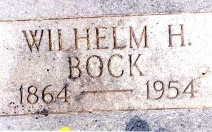 BOCK, WILHELM H. - Cedar County, Iowa | WILHELM H. BOCK
