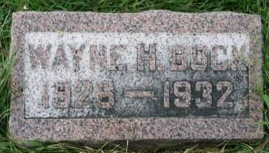 BOCK, WAYNE H. - Cedar County, Iowa | WAYNE H. BOCK