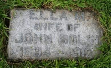 BOLIN, ELLA M. - Cedar County, Iowa | ELLA M. BOLIN