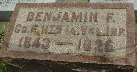 BOSSERT, BENJAMIN F. - Cedar County, Iowa   BENJAMIN F. BOSSERT