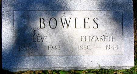 BOWLES, ELIZABETH - Cedar County, Iowa | ELIZABETH BOWLES