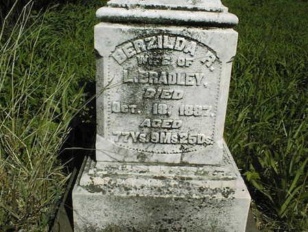BRADLEY, BERZILDA R. - Cedar County, Iowa   BERZILDA R. BRADLEY