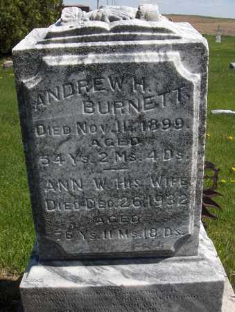 BURNETT, ANN W. - Cedar County, Iowa | ANN W. BURNETT