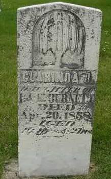 BURNETT, CLARINDA J. - Cedar County, Iowa | CLARINDA J. BURNETT