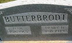 BUTTERBRODT, LENA - Cedar County, Iowa | LENA BUTTERBRODT