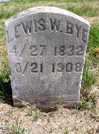 BYE, LEWIS W. - Cedar County, Iowa | LEWIS W. BYE