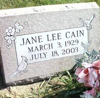 CAIN, JANE - Cedar County, Iowa   JANE CAIN