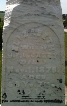CAREY, ELIZABETH - Cedar County, Iowa | ELIZABETH CAREY