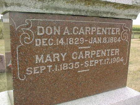 CARPENTER, DON A. - Cedar County, Iowa | DON A. CARPENTER