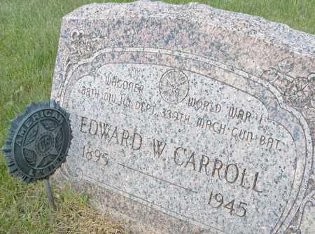 CARROLL, EDWARD W. - Cedar County, Iowa   EDWARD W. CARROLL