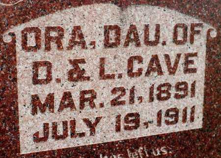 CAVE, ORA - Cedar County, Iowa   ORA CAVE