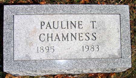 CHAMNESS, PAULINE T. - Cedar County, Iowa | PAULINE T. CHAMNESS