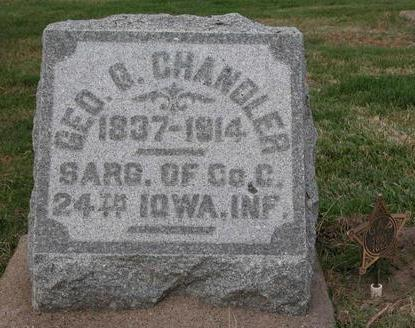 CHANDLER, GEORGE GATES - Cedar County, Iowa | GEORGE GATES CHANDLER