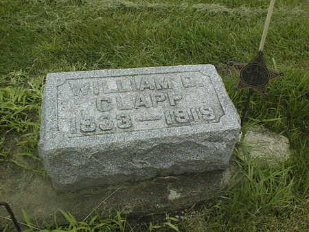 CLAPP, WILLIAM D. - Cedar County, Iowa | WILLIAM D. CLAPP