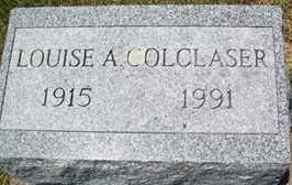 COLCLASER, LOUISE A. - Cedar County, Iowa   LOUISE A. COLCLASER