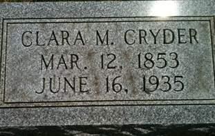 CRYDER, CLARA M. - Cedar County, Iowa | CLARA M. CRYDER