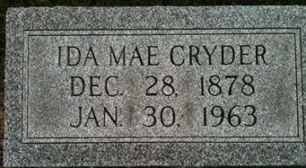 CRYDER, IDA MAE - Cedar County, Iowa | IDA MAE CRYDER