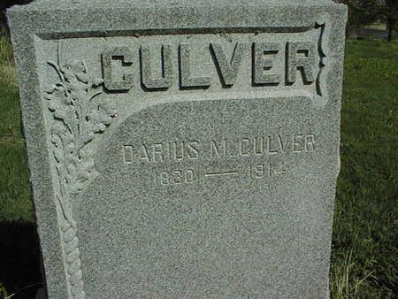 CULVER, DARIUS M. - Cedar County, Iowa   DARIUS M. CULVER