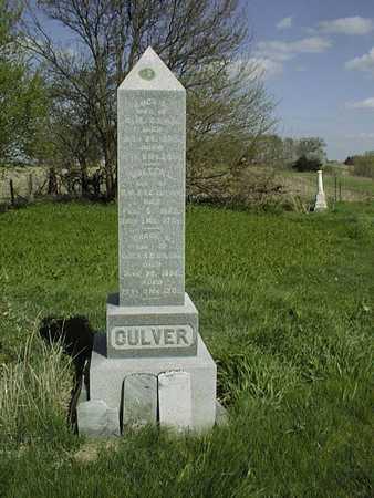 CULVER, FAMILY MONUMENT - Cedar County, Iowa | FAMILY MONUMENT CULVER