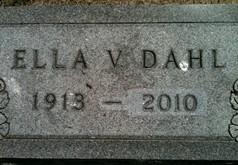 DAHL, ELLA VELMA - Cedar County, Iowa | ELLA VELMA DAHL